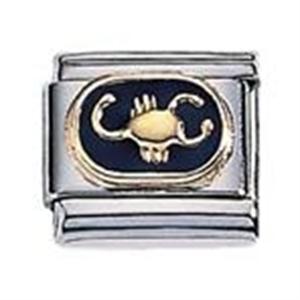 Afbeelding van Zoppini - 9mm - horoscoop schorpioen emaille