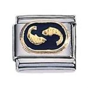 Afbeelding van Zoppini - 9mm - horoscoop vissen emaille