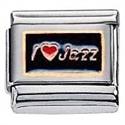 Afbeelding van Zoppini - 9mm - muziek symbolen - i love jazz