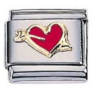 Afbeelding van Zoppini - 9mm - diversen hart rood pijl