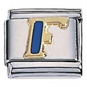 Afbeelding van Zoppini - 9mm - letter F emaille