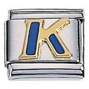 Afbeelding van Zoppini - 9mm - letter K emaille