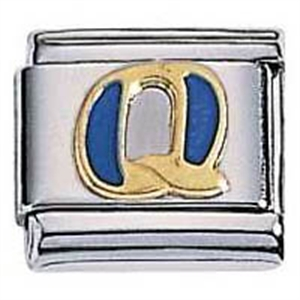 Afbeelding van Zoppini - 9mm - letter Q emaille