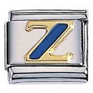 Afbeelding van Zoppini - 9mm - letter Z emaille