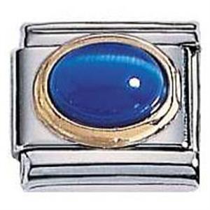 Afbeelding van Zoppini - 9mm - kattenoog - blauw