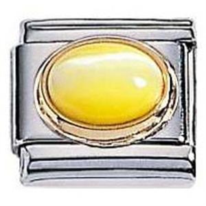 Afbeelding van Zoppini - 9mm - kattenoog - geel