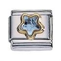 Afbeelding van Zoppini - 9mm - Synthetische steen ster licht blauw