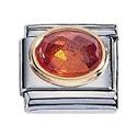 Afbeelding van Zoppini - 9mm - Synthetische steen oranje