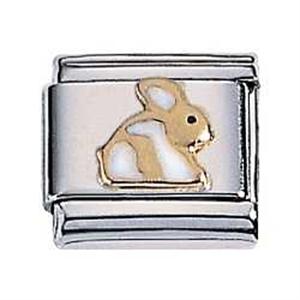 Afbeelding van Zoppini - 9mm - dieren konijn wit