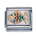 Afbeelding van Zoppini - 9mm - dieren vis kleurrijk